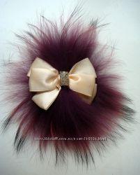 Натуральный мех енота - украшение на шапку