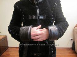 шуба-пальто мутон