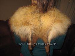 Воротник меховой лиса
