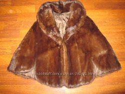 норковая жилетка -шубка  накидка