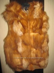 жилет жилетка из натуральной лисы
