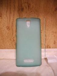 Силиконовый чехол бампер бирюзового цвета Lenovo A2010 Леново