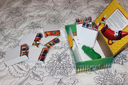 Подарочный набор восковых карандашиков Crayola. 120 штук, в подарок точилка