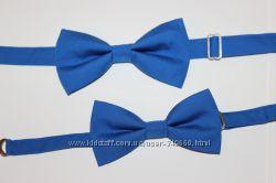 Красивые набор галстуков бабочек папе и сыну. Яркие аксессуары к празднику