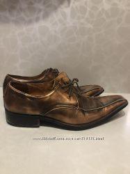 Кожаные бронзовые туфли для мужчины
