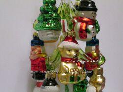 Стеклянные елочки - елочные игрушки - 5 см -