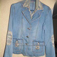 женская куртка пиджак джинс 48-50 в отличном состоянии