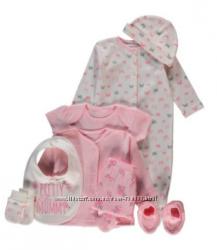 Подарочные комплекты и костюмчики для малышей 0-6 мес, Англия.