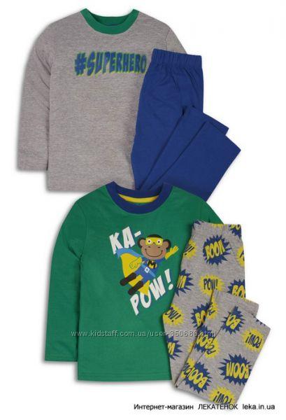 Пижамки трикотажные  для мальчиков  2-8 лет Primark, Англия -поштучно и уп.