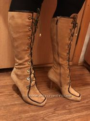 Замшевые сапожки Roberto Cavalli 36 размер