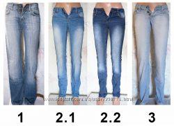 джинсы синие голубые XS - S