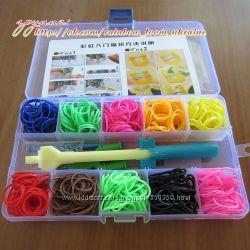 Rainbow loom плетение браслетов из резинок