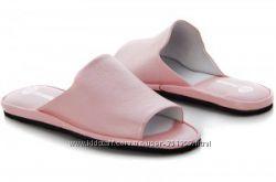 Кожаные женские тапочки модель 460 розовые, все размеры