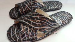 Мужские кожаные тапочки 42 размер мод. 797 Волна