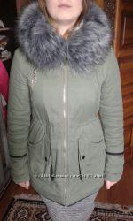 Зимняя куртка-парка в отличном состоянии L