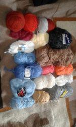 Набор ниток для вязания остатки - асорти