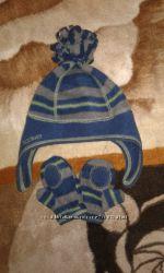 Флисовая шапочка и рукавички на 1-1, 5 годик