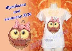 Заказ ежедневно Женские футболки под вышивку от 42 до 58 р-ра