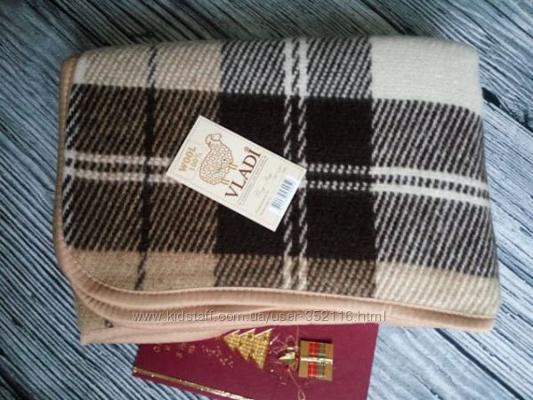 Детский плед из овечьей шерсти Vladi 100х140 см