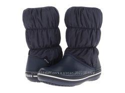 Зимние сапоги Crocs Winter Puff Boot, синие, W5, W7, W8