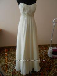 Весільне плаття колір Ivory в грецькому стилі