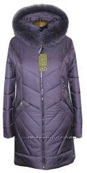 Стильное и красиво пальто с натуральным мехом чернобурки и песца 48-62р