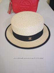Соломенные шляпы канотье Chanel