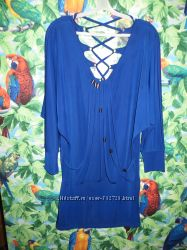 Модная туника насыщенного синего цвета