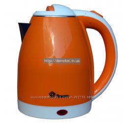 Электрочайник металл-пластик Domotec DT-806 2. 0л оранжевый