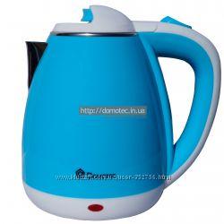 Электрочайник металл-пластик Domotec DT-901 1. 8л голубой