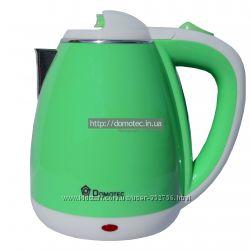 Электрочайник металл-пластик Domotec DT-901 1. 8л зеленый