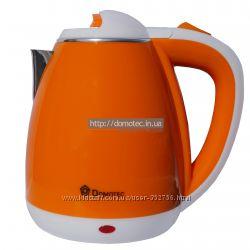 Электрочайник металл-пластик Domotec DT-901 1. 8л оранжевый