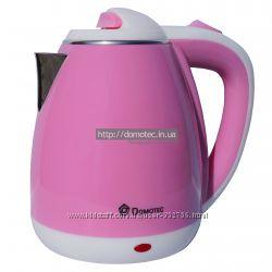 Электрочайник металл-пластик Domotec DT-901 1. 8л розовый
