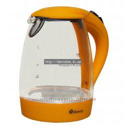 Электрочайник стекло Domotec DT-810 1. 7л оранжевый