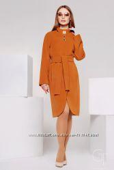 Красивое демисезонное  женское удлиненное  пальто X-Woyz PL-8585