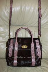 Оригинальная сумка   MULBERRY, Англия , из натуральной кожи и меха