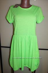 Новое неоново-салатовое платье бренда BOOHOO, размер  UK 14, на 48 р