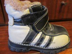 Зимние кожаные ботиночки на натур. меху