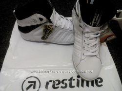 Новые кожаные кроссовки restime 25 см последняя пара почти даром
