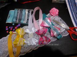 Резинки, заколки, ободки ручной работы в наличии и под заказ