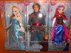 Куклы Эльза, Анна, Кристоф и Ганс из мф Холодное сердце, оригинал, в наличи