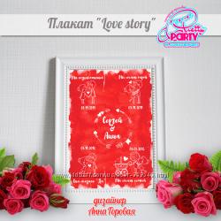 Подарок Любимому человеку - плакат Love story