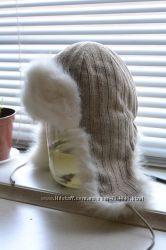 Шапка-ушанка теплая