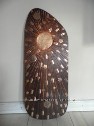 Картина Солнце дерево, метал