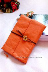 Софтбук кожанный Mandarin в мягком переплёте - Hand Made