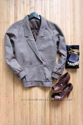 Укороченное пальто Pure New Wool оверсайз
