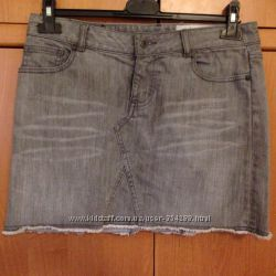 Джинсовая юбка converse серая, 29 размер