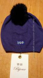 Шапка VDP Фиолетовая  и красная