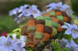 Шикарный шарф-снуд Природа ручная работа