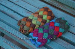 Шикарный шарф-снуд Птица ручная работа